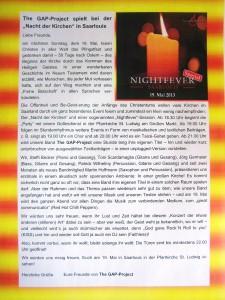 Einladung Nightfever