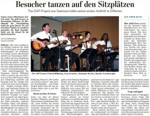 SZ-ARTIKEL ZUM AUFTRITT IN DIFFERTEN - 2. NOVEMBER 2012